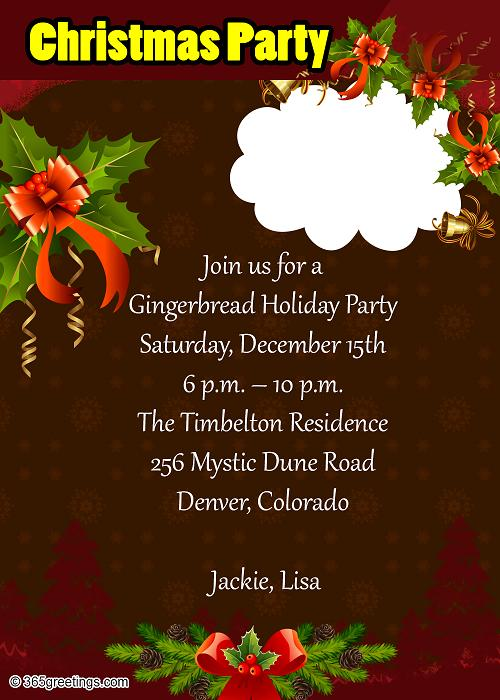 Christmas party invitation wording samples dawaydabrowa christmas party invitation wording samples stopboris Gallery