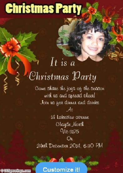 Christmas party invitations and christmas party invitation wording 8christmas invitation sample stopboris Images
