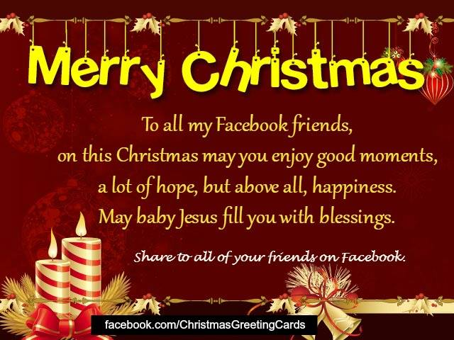 Christmas Greeting For Facebook