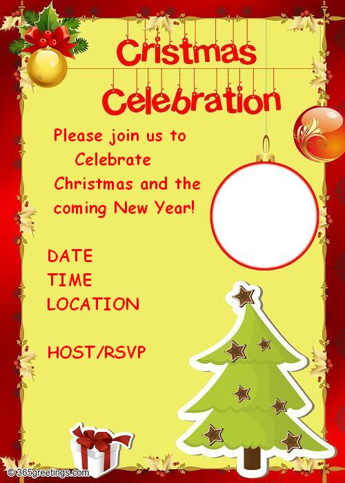 Christmas Eve Party Invitation Wording with luxury invitation design