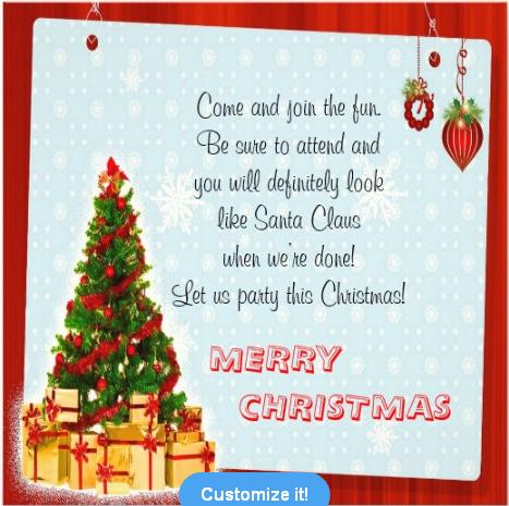 Christmas Party Invitations and Christmas Party Invitation Wording – Funny Christmas Party Invitation Wording