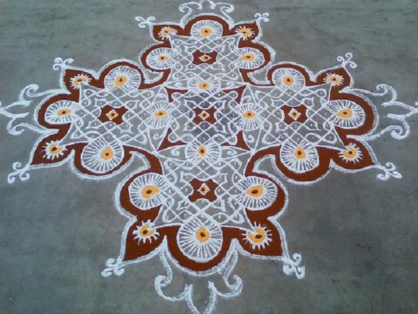 Traditional Tamil Kolam