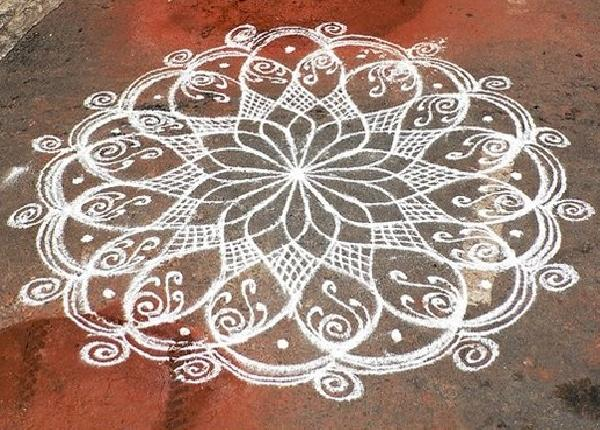 Kolam Designs for Pongal - Easyday