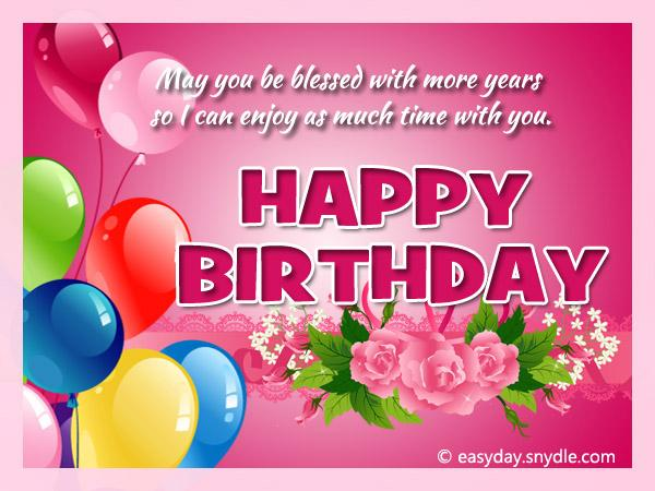 Birthday Wishes Messages and Greetings Easyday – Greetings for Birthday Cards