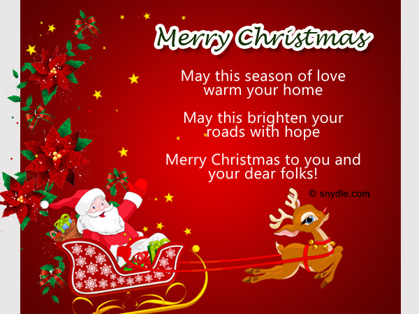 That Being Said, Itu0027s Only Natural That Christmas Became The Biggest  Festival In The World And Millions Of People Celebrate It With Carols, ...  Christmas Greetings Sample