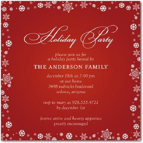 Christmas Party Invitations and Christmas Party Invitation Wording – Dinner Party Invitation Wording