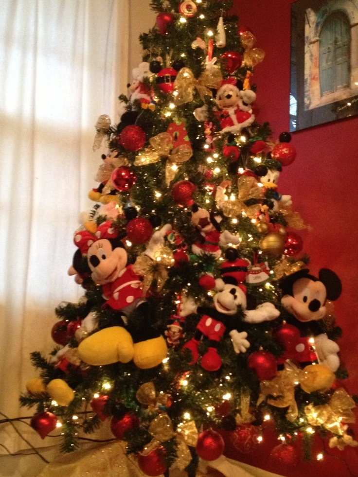 mickey christmas tree cards - Mickey Mouse Christmas Tree Decorations