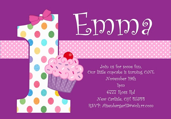 1st Birthday Invitation Samples