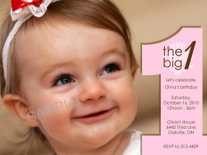 First Birthday Invitations Sample Wording 1
