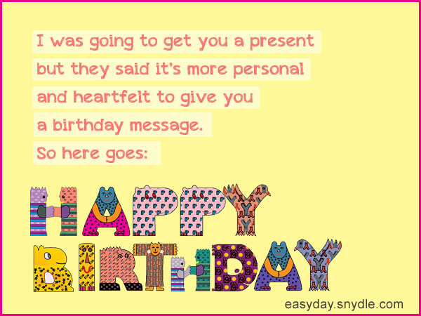 Funny birthday wishes easyday funny birthday wishes m4hsunfo