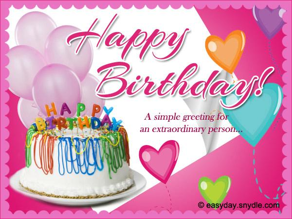 Birthday Wishes Messages and Greetings Easyday – Happy Birthday Card Message