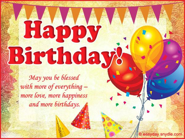 Birthday Wishes Messages and Greetings Easyday – Birthday Wish Greeting Images