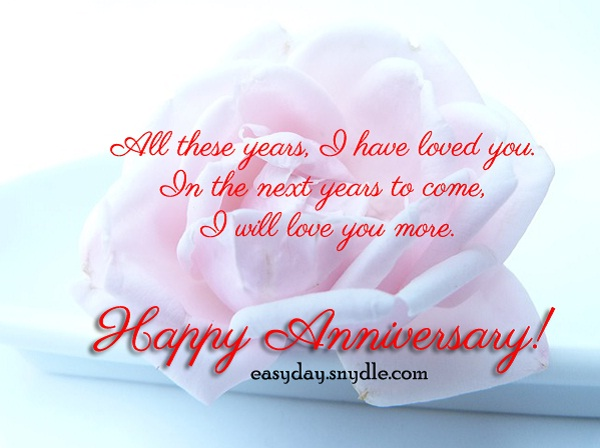 Examples Of Wedding Anniversary Messages