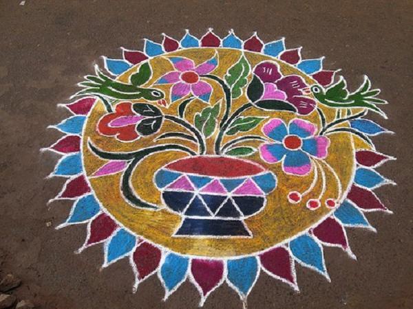 Pongal Kolam Designs Easyday