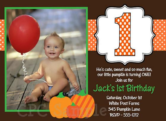 First birthday invitation wording and 1st birthday invitations easyday pumpkin 1st birthday invitations stopboris Gallery