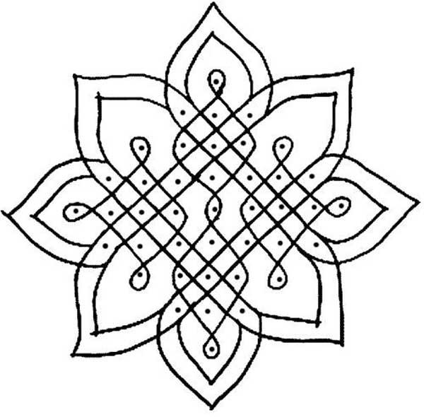 Line Art Ks2 : Rangoli designs with dots easyday