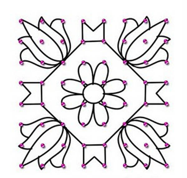 Kolam Designs With Dots Book
