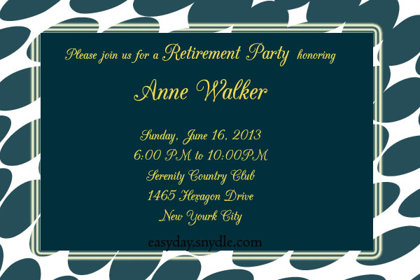 Retirement party invitation sample easyday retirement party invitation sample stopboris Image collections