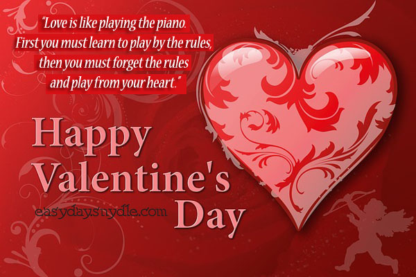 Valentine wishes for fiance