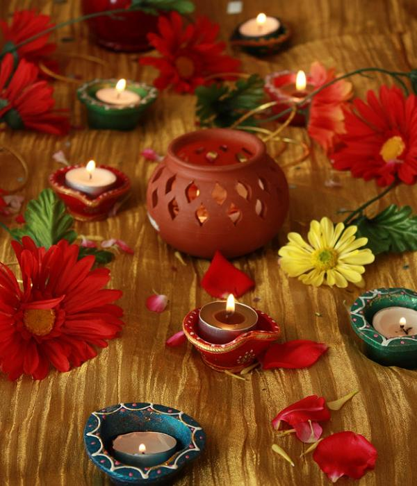Diwali navratri decorations easyday for How to make diwali decorations at home