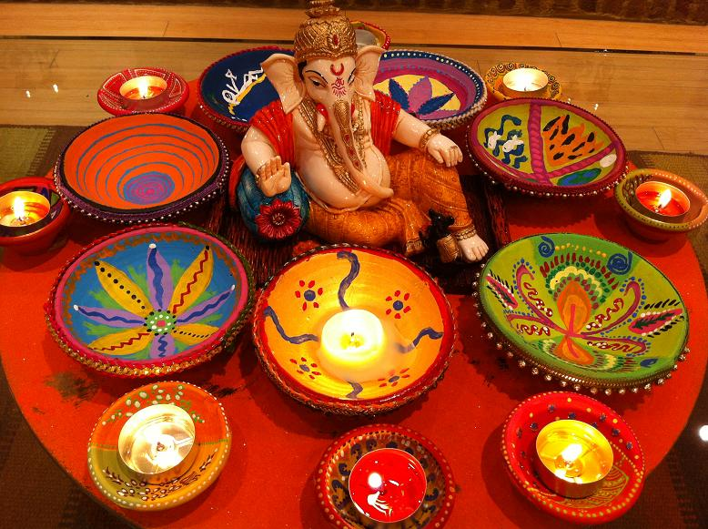 religious-hindu-diwali-decorations