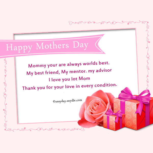 Mothers day messages wishes and mothers day greetings easyday mothers day cards m4hsunfo