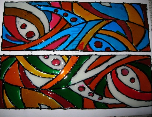 Abstract glass painting easyday for Best glass painting designs