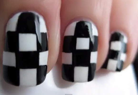 Black And White Nail Art Easyday