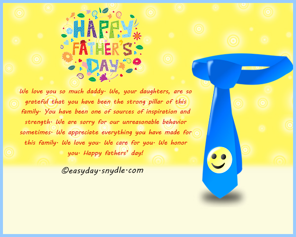 Fathers day messages wishes and fathers day quotes for 2017 easyday we appreciate everything you have made for this family all of us love you we care for you we honor you happy fathers day m4hsunfo