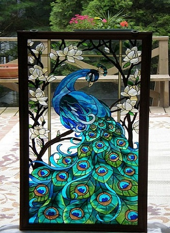 glass-art-peacock