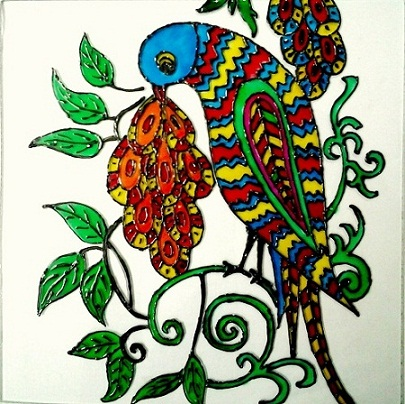 glass-painting-of-bird
