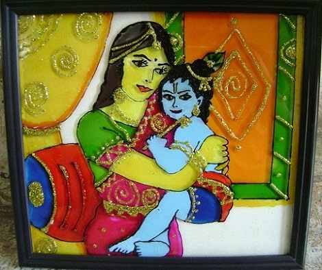 krishna-glass-painting