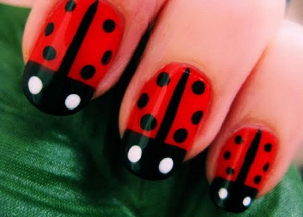 40 cute and easy nail art designs for beginners easyday ladybug nail designs prinsesfo Choice Image