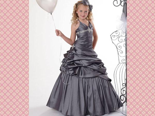 silver-flower-girl-dresses