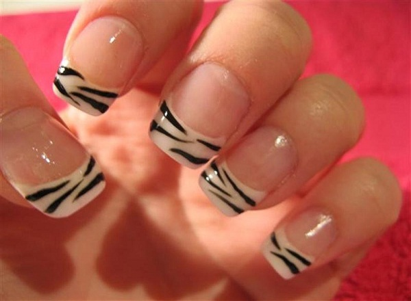 40 cute and easy nail art designs for beginners easyday zebra nail art prinsesfo Images