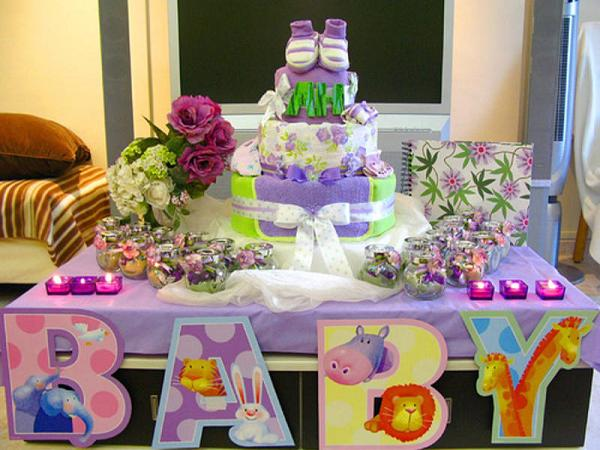 Baby shower ideas easyday for Home decorations for baby shower