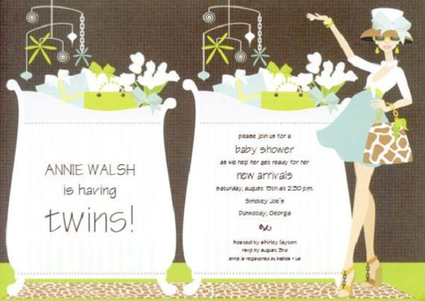 twinbabyshowerinvitations  easyday, Baby shower invitation