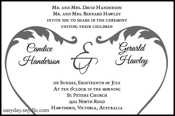 Wedding invitation wording sample easyday wedding invitation wording sample filmwisefo Choice Image
