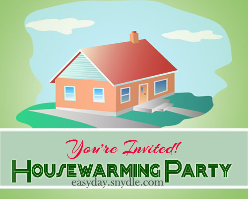 House warming invitation easyday What is house warming