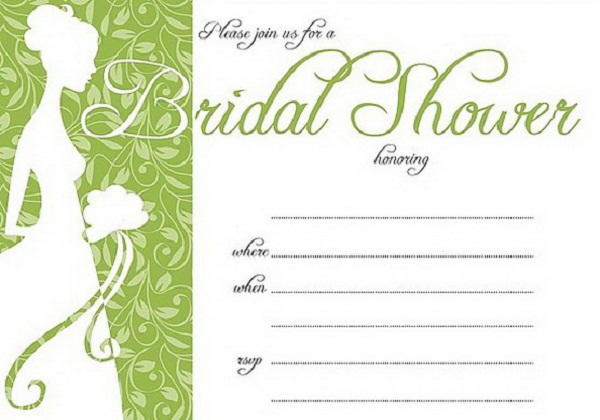 Wedding Shower Invites Template