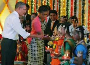 Us President Barak Obama In Diwali Celebration