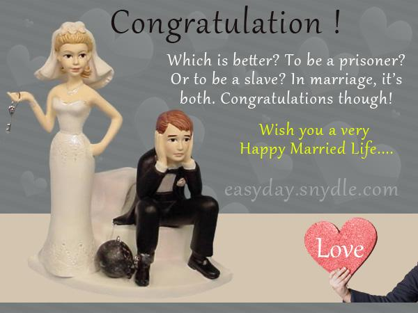 Wedding Congratulations Quotes Funny Wedding wishes, messages