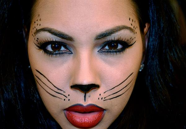 halloween cat makeup ideas - Cat Eyes Makeup For Halloween