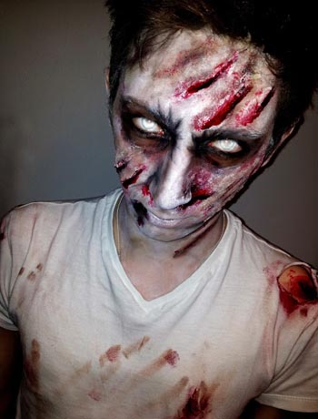 Halloween makeup for men zombie