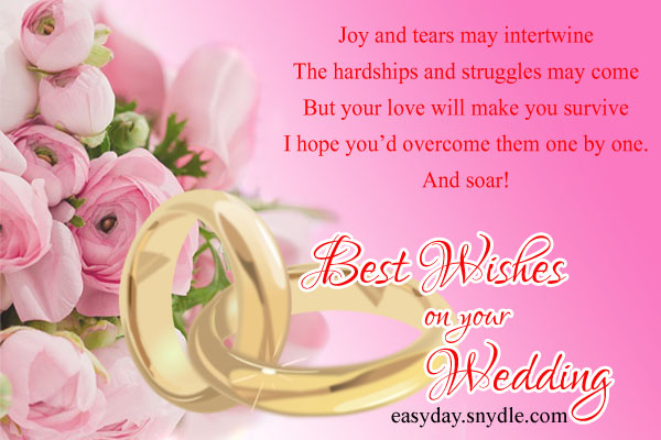 Top wedding wishes and messages easyday happy wedding wishes m4hsunfo Choice Image
