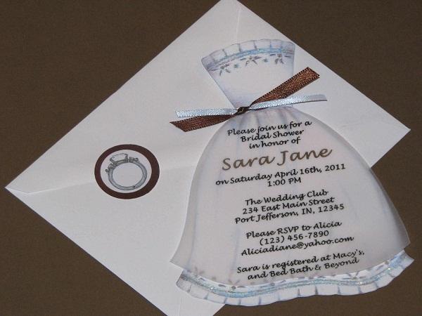 Homemade Bridal Shower Invitations