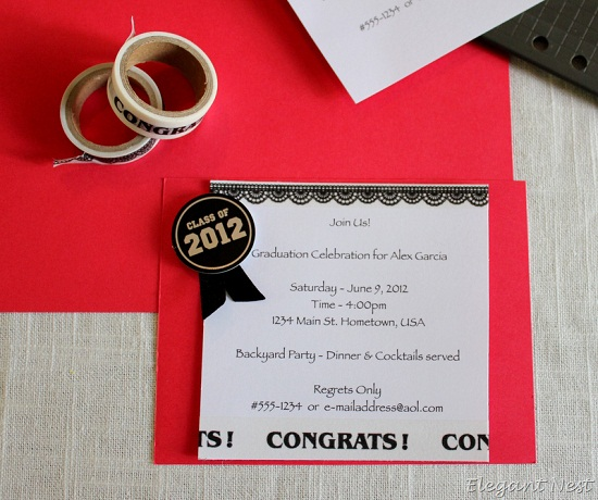 Homemade Graduation Invitations was very inspiring ideas you may choose for invitation ideas