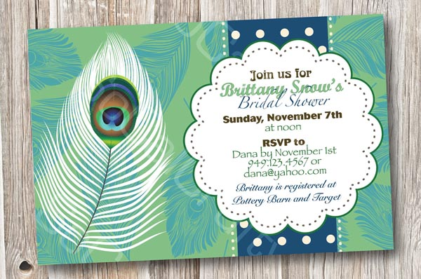 com personalized bridal elegant invitations zquery peacock imtzy feathers shower