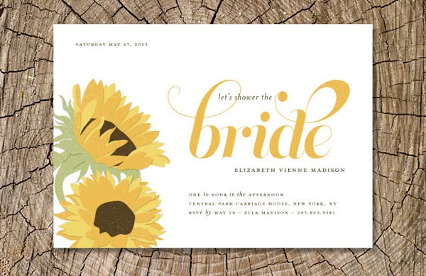 Bridal shower invitations bridal shower invitations with sunflowers sunflower bridal shower invitations filmwisefo