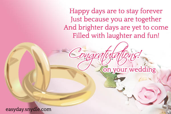 Top wedding wishes and messages easyday wedding wishes m4hsunfo